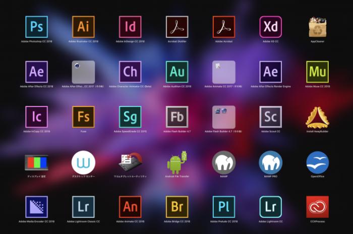 Macに入っているアプリ