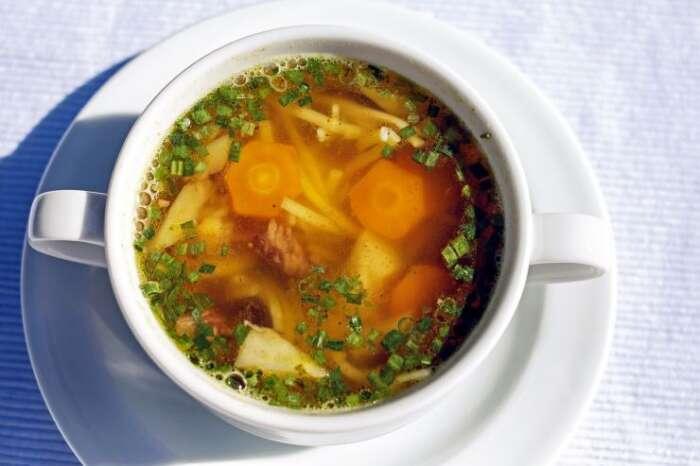スープには野菜を沢山入れられる