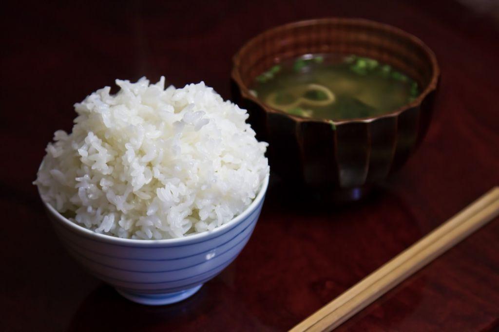 白米と味噌汁
