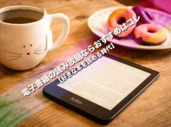 電子書籍の読み放題ならおすすめはコレ【好きな本を読める時代】