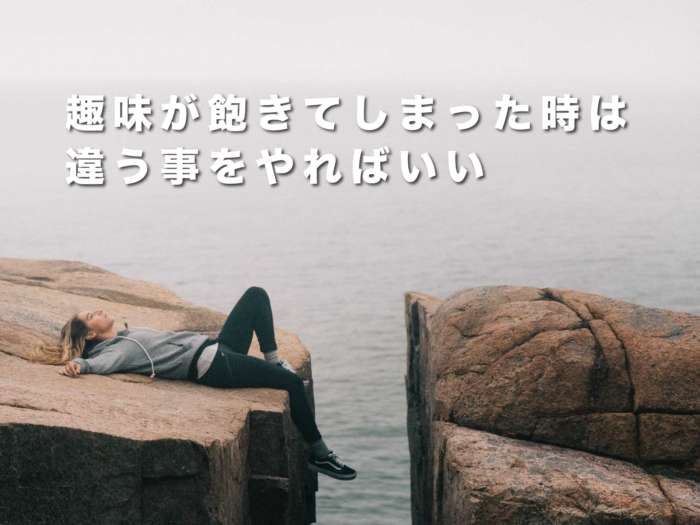 趣味が飽きてしまった時は違う事をやればいい【好きならまたやりたくなります。】