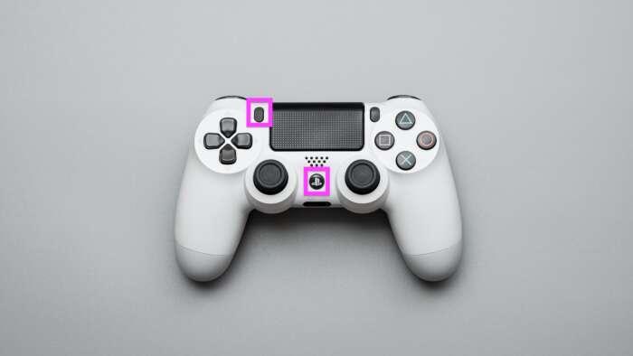 PS4のコントローラーの『PSボタン』と『Shareボタン』